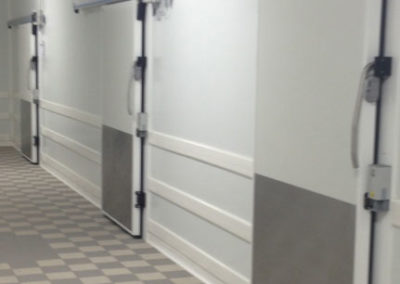 Porte coulissante positive ou négative avec guidage panneaux 7540 ACOFROID